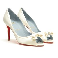CHRISTIAN LOUBOUTIN | 'Milady 85' Bridal Shoes | Browns fashion & designer clothes & clothing