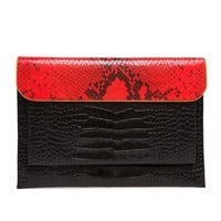 DRIES VAN NOTEN | Python and Crocodile Embossed iPad Case | Browns fashion & designer clothes & clothing