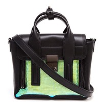 3.1 PHILLIP LIM | Pashli Leather and Holographic Stamped Satchel | Browns fashion & designer clothes & clothing