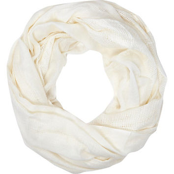 Cream gauze laddered snood - scarves - accessories - women
