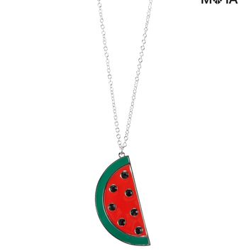 Watermelon Long-Strand Necklace