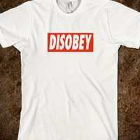 Disobey Logo T Shirt - Tops for women, men and kids
