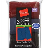 Hanes Boys ComfortSoft Dyed Boxer Briefs (3-Pack)