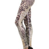 Carrie's Closet - Leopard Print Footless Tights -- SHEER