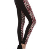 Carrie's Closet - Raspberry Leopard Footless Tights -- SHEER