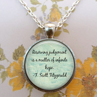Great Gatsby Necklace, F Scott Fitzgerald, Literature, Classic T1207