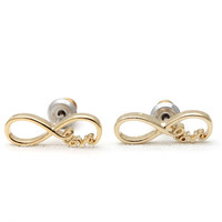 girlsluv.it - infinity love earrings
