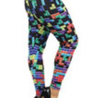 Carrie's Closet - tetris plus size leggings