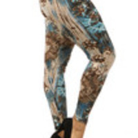 Carrie's Closet - tie dye plus size leggings in teal