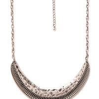 Rustic Crescent Bib Necklace