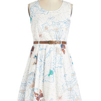 Map Time Dress | Mod Retro Vintage Dresses | ModCloth.com