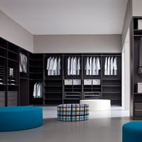 Rosewood walk-in wardrobe OTTOPIÙ Walk-in wardrobes Collection by GIELLESSE
