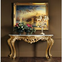 Solid wood console table 11606 Villa Venezia Collection by Modenese Gastone group