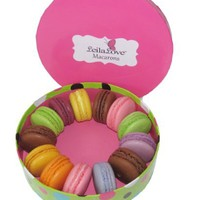 LeilaLove Macarons 12 Macarons 7 flavors beautifully packaged in a presentation box