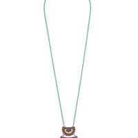 colored chain pendant necklace