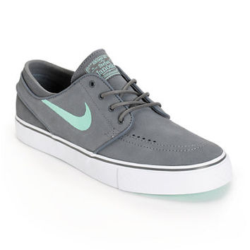 Nike SB Zoom Stefan Janoski Grey & Medium Mint Skate Shoes