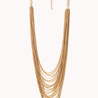 FOREVER 21 Posh Layered Chain Necklace Gold One