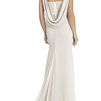 Juliet Cowl-Back Exposed Corset Gown