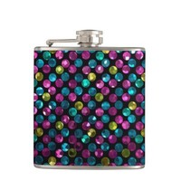 Flask Polka Dot Sparkley Jewels
