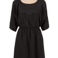 Cold Shoulder Gathered Waist Dress