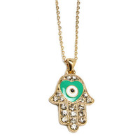 Pree Brulee - Heart in a Hamsa Hand Necklace