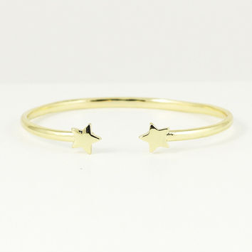 GOLD STAR TIP CUFF BRACELET | PUBLIK | Women's Clothing & Accessories