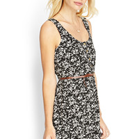 Abstract Floral Cage Dress
