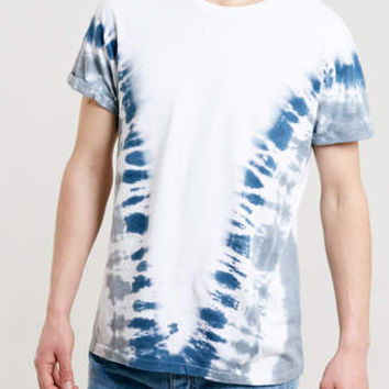 WHITE TIE DYE ROLLER T-SHIRT - Men's T-Shirts & Vests - Clothing