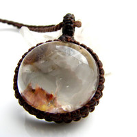 Garden Quartz Necklace / Lodalite / Garden / Gardener / Naturalist / Gift Idea / Fairy jewelry / Earthy / Moss / Natural Stone Jewelry