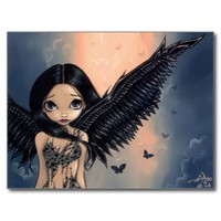 """Black Winged Angel"" Postcard"