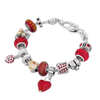 Multicolor Murano Glass Silver Plated Love Mom Family Set Fit Beads Charms Bracelets All Brands, Charms Beads, Bracelets | Pugster.com