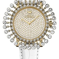 Juicy Couture Crystal Fringe Leather Strap Watch, 36mm | Nordstrom