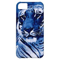 Blue Tiger Artwork Cover For iPhone 5C