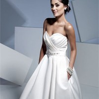 Empire Gown Sweetheart Neckline Strapless Satin Wedding Dress WDMB004 -Shop offer 2012 wedding dresses,prom dresses,party dresses for girls on sale. #Category#