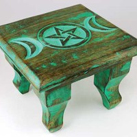Antiqued Triple Moon Altar Table 6 : Pagan Store, Wiccan Store, Witchcraft Store, An online Pagan, Wiccan and Witchcraft store