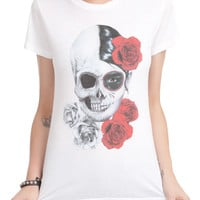 Day Of The Dead Skull Face Girls T-Shirt