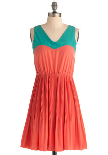 Me, You, and Malibu Dress in Coral | Mod Retro Vintage Dresses | ModCloth.com