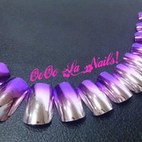 New!! Ombre Metallic/ Mirror Nails Collection Available in Different Colors
