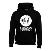 5 seconds of summer white logo HOODIE fashion 5sos trendy hooded sweatshirt