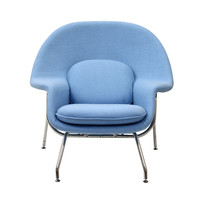 Nest Lounge and Ottoman Set in Light Blue