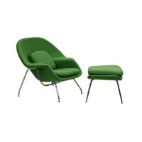 Nest Lounge and Ottoman Set in Emerald