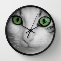 KITTURE Wall Clock by Catspaws | Society6