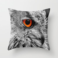 ORANGE OF MY EYE Throw Pillow by Catspaws | Society6