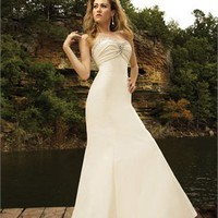 A line Gown Strapless Beaded Satin Wedding Dress WDMB018 -Shop offer 2012 wedding dresses,prom dresses,party dresses for girls on sale. #Category#