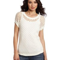 Vince Camuto Women&#x27;s Open Mesh Stitch Sweater