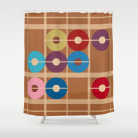 Cooper Alchemy Shower Curtain by Ramon Martinez Jr