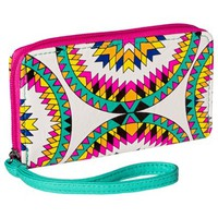 Xhilaration® Geometric Print Cell Phone Case Wallet with Removable Wristlet Strap - Multicolored