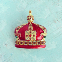 Crown Jewels Enamel Brooch