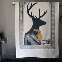 Orwell and Goode Dandy Deer Tea Towels