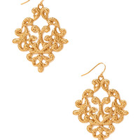 Regal Filigree Drop Earrings
